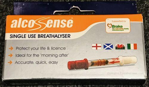ALCO SENSE SINGLE USE BREATHALYSER NEW /& SEALED UK