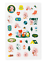 miniature 7 - Official BTS BT21 Green Planet Clear Sticker +Freebie +Free Tracking KPOP