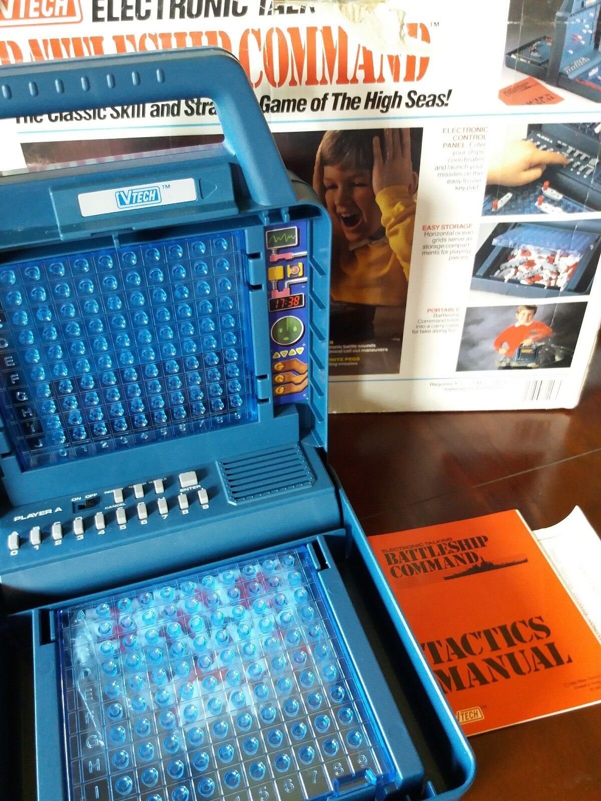 Vintage Electronic Battleship Command Game By V-Tech Excellent Condition For Age