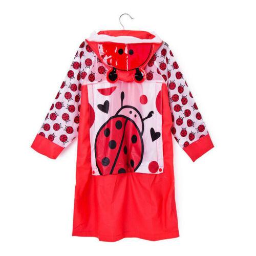 For Children Student Rain Poncho Raincoat Hooded Schoolbag Seat child Rainwear