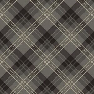 Image Is Loading 252700 Fairburn By Arthouse Charcoal Grey Black Tartan