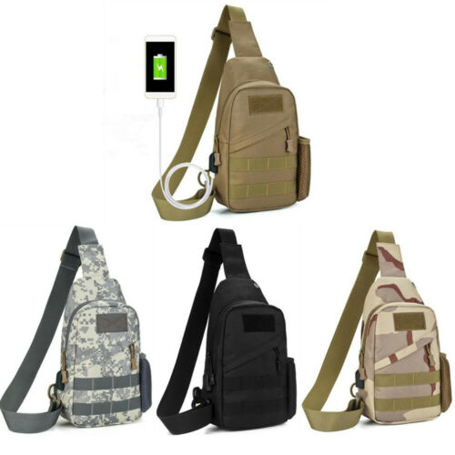 Chest Pack Fishing Bag Fishing Travel Tackle Chest Bag Small Bags USB Tactical