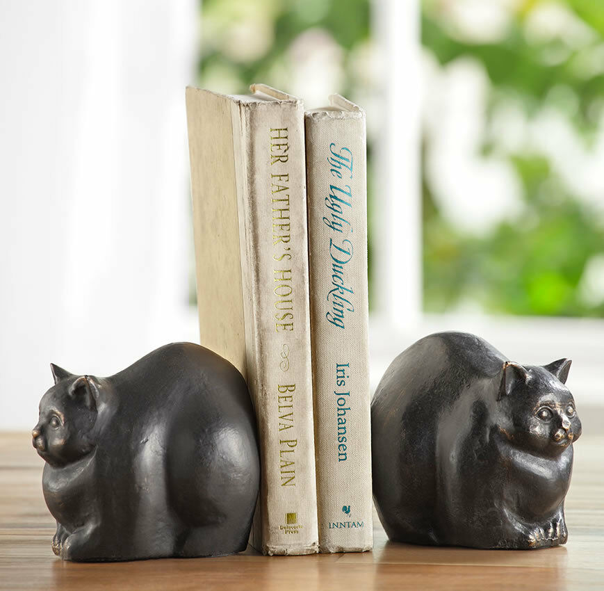 Chubby Cat Bookends by SPI Home San Pacific International 50906