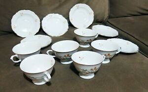 China-Made-In-Poland-Walbrzych-China-SIX-Cups-and-Saucers-Very-Pretty