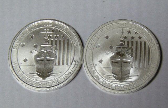 2014 Australia 1//2 oz Silver Bullion Coin Battle of the Coral Sea BU Free Ship