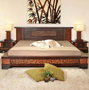bambusbett 160x200 shiva doppelbett bambus bett rattan. Black Bedroom Furniture Sets. Home Design Ideas