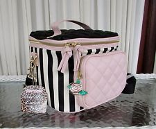 Betsey Johnson Cargo Lunch Tote Bag Insulated Quilted Crossbody Stripes NWT