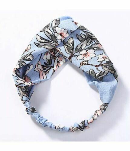 Boho Floreale Twist Nodo Fascia Elastica Testa Wrap turbante fascia per capelli Yoga Sport
