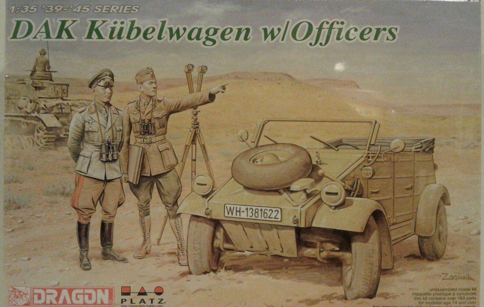 Dragon Models 1 35 scale kit 6364, DAK Kubelwagen w Officers