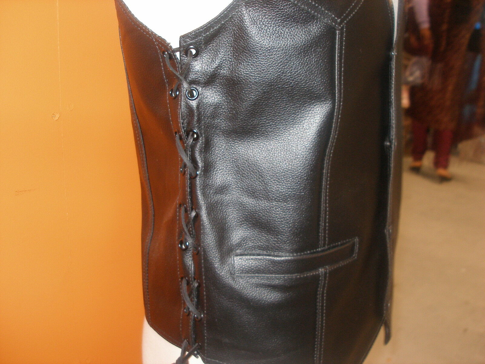 NEW LEATHER VEST FOR MEN 100% COWHIDE LEATHER.SIZES SMALL TO 10XL.