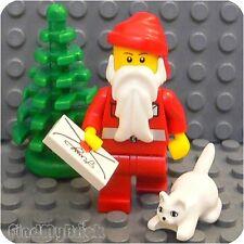 RX1 Lego Santa Minifigure with Christmas Tree & Kitty Cat ( Animal Pet ) NEW