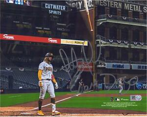 "Fernando Tatis Jr. SD Padres Signed 8"" x 10"" Bat Flip Photo & ""Slam Diego"" Insc"
