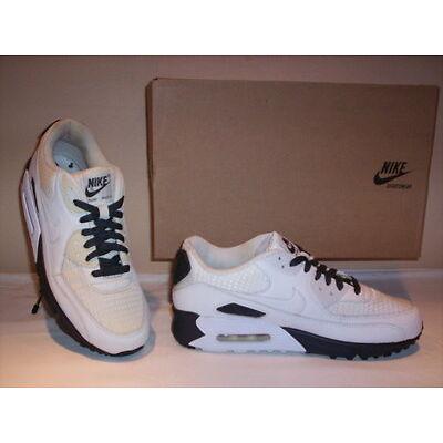 Chaussures de sport baskets Nike Air Max 90 homme gymnastique cuir toile blanc