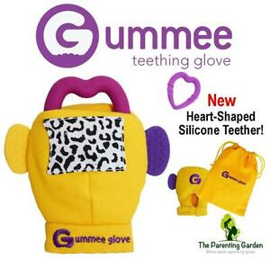 NEW Gummee Glove Yellow Baby Teething Mitten with Silicone Teether ... e36a72a54ee