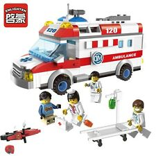 NEW ENLIGHTEN CITY Ambulance Rescue Emergency Building Blocks Minifigures Toys