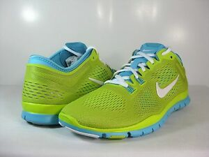 WMNS NIKE FREE 5.0 TR FIT 4 Venom Green/White-Polarized Blue 629496 314 SZ:6-10