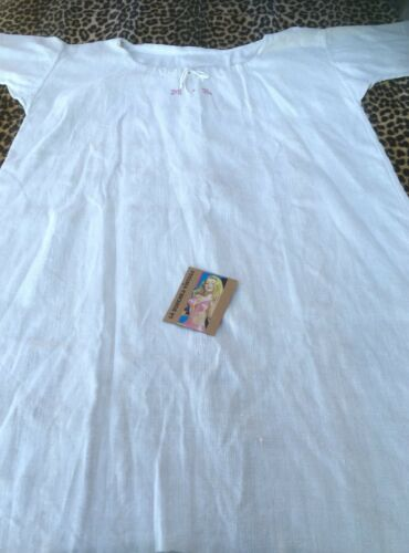 FRENCH 1800s WOMEN NIGHTGOWN DRESS~METIS LINEN~RED