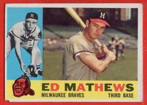 1960 Topps #420 Eddie Mathews VG-VGEX+ HOF Milwaukee Braves Atlanta FREE S/H