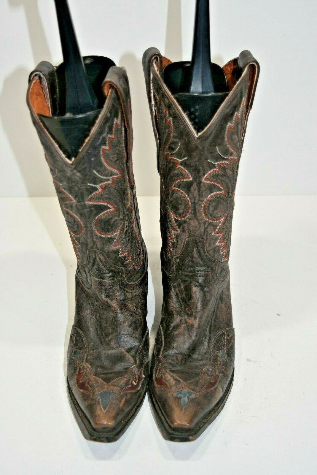 Dan Post pour Femme 6.5 M DP3624 Betty Tobacco marron Snip Toe Mode Bottes Cowboy