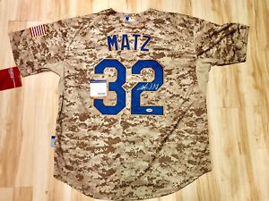 new product ae806 d5013 Details about Steven Matz Hand Signed CAMO Autographed New York Mets Jersey  PSA DNA Cert