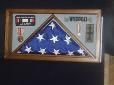 Military Honors Shadow Box Flag Display Case for 3x5 #1031 (Made in Wisconsin)