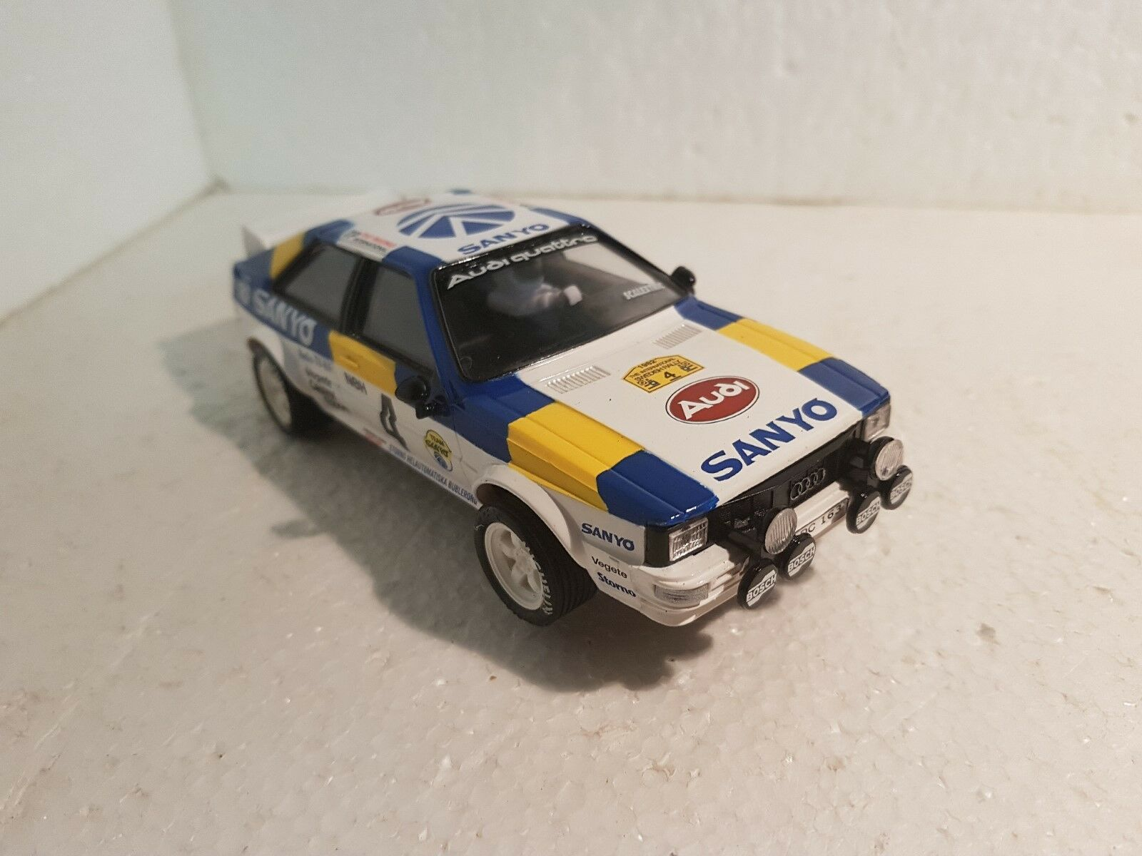 Qq SCALEXTRIC SPAIN PLANET RALLY MYTHICAL AUDI QUATTRO 1982 SWEDISH RALLY