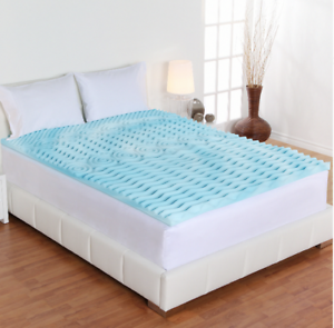 Memory Foam Mattress Topper 2 Inch Orthopedic Pad Bed Cushioning QUEEN Size