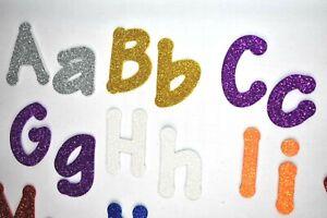 "5 letters Self adhesive glitter foam alphabet letters 2/"" lollipop font die cut"