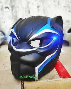 New-Arrival-Custom-Black-Panther-Helmet-For-Motorcycle-approved-DOT-ECE