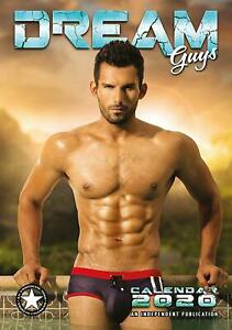 Dream-Guys-Wall-Calendar-2020-Large-A3-Sexy-Hunks-Men-Models-Christmas-Gift