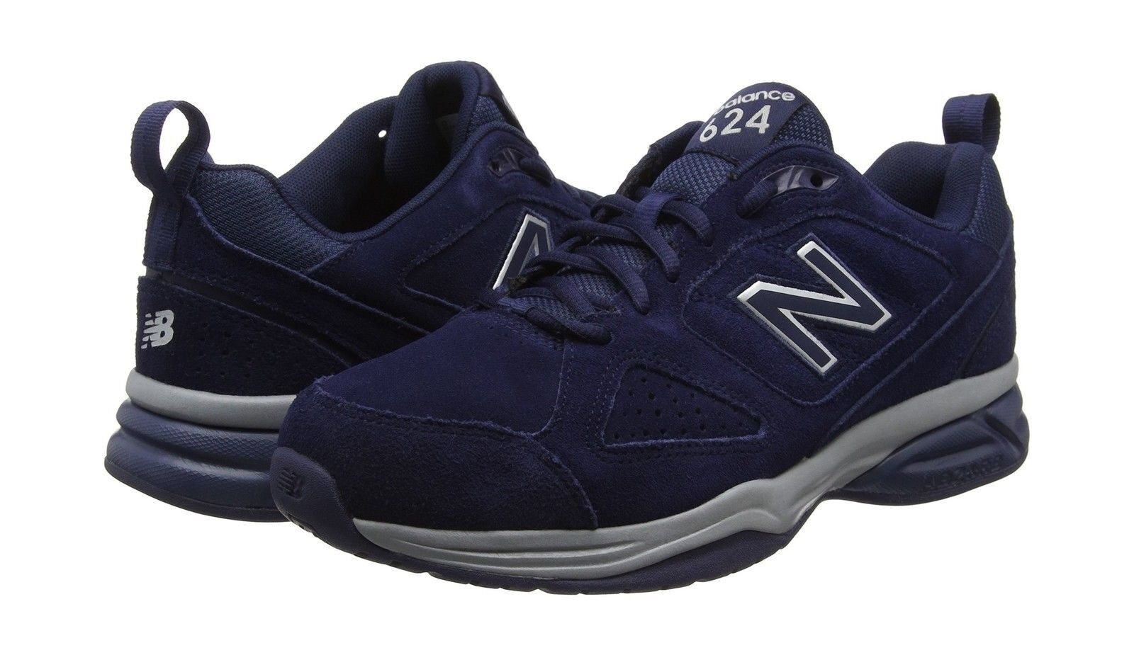 New Balance Hombre's MX624NV4 Navy Suede Suede Suede 4E Wide Trainers 9ad81c