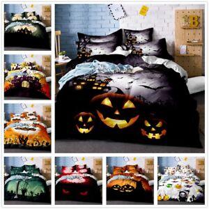 image is loading halloween pumpkin skull duvet cover pillowcase quilt comforter