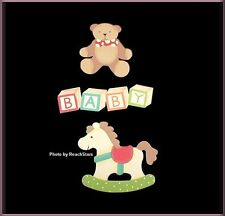 BABY TOY METAL MAGNET SET OF 3 EMBELLISH YOUR STORY FREE U. S. SHIPPING