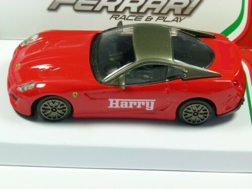 10cm Personalised Ferrari 599 GTO model toy car boy dad gift 1//43 scale
