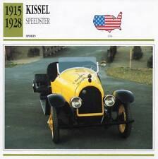 1915-1928 KISSEL SPEEDSTER Sports Classic Car Photo/Info Maxi Card
