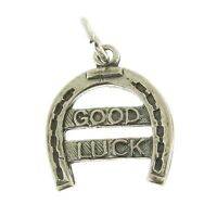 925 Sterling Silver Good Luck Horseshoe Charm Made In Usa