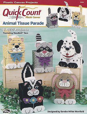Animal Tissue Parade, Uniek Quick Count Plastic Canvas Pattern Booklet 53004 HTF