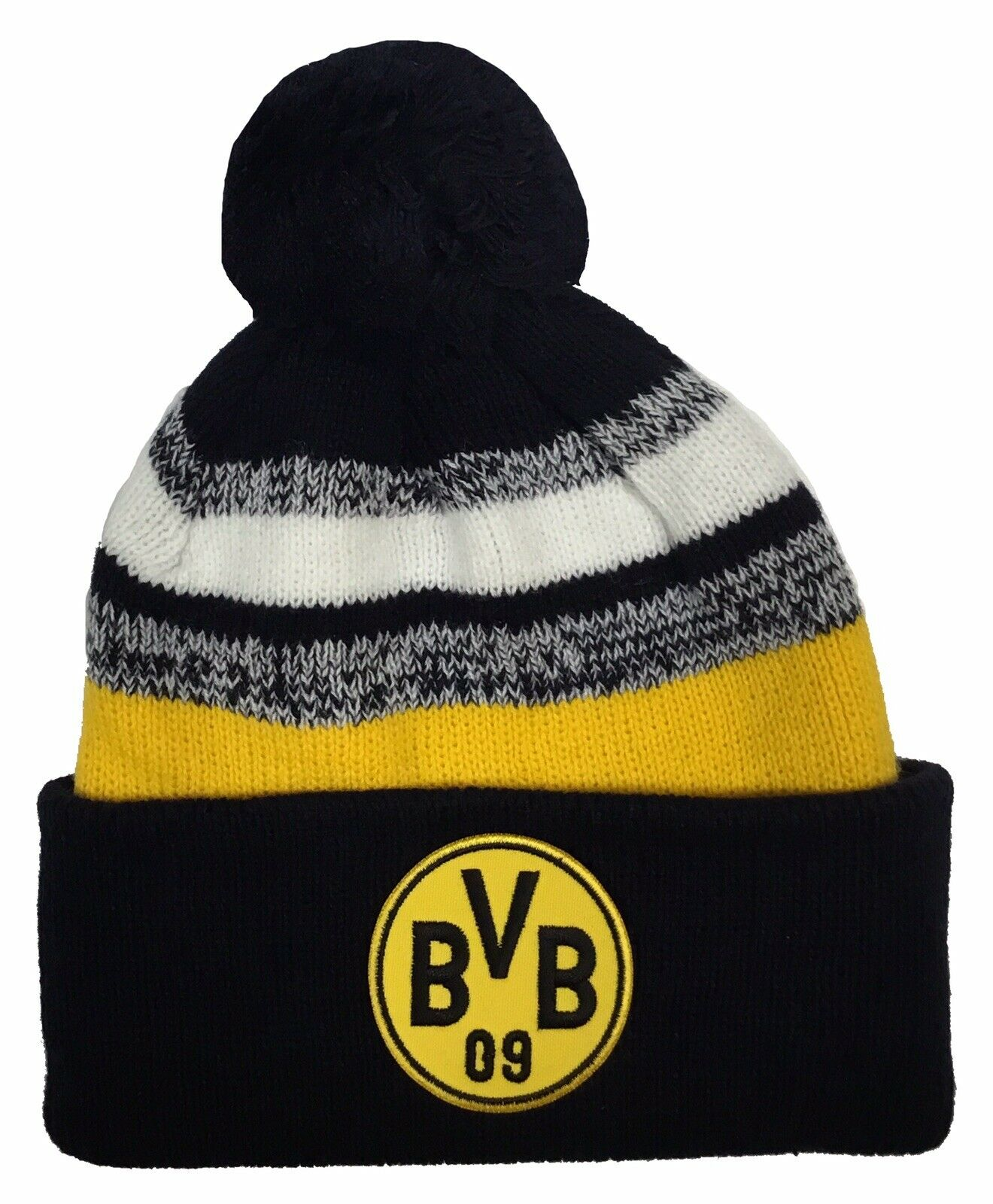 Borussia Dortmund Official Knitted Soccer Crest Beanie Hat For Sale Online Ebay