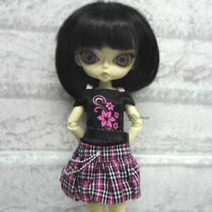 Blythe-Momoko-Hujoo-Berry-Pure-Neemo-Obitsu-Outfit-Low-Waist-Skirt-Tee-FLOWER