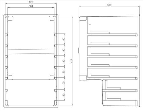 Gewerbekühlschrank mit Umluftkühlung Glastürkühlschrank  NordCap M85 Gastlando