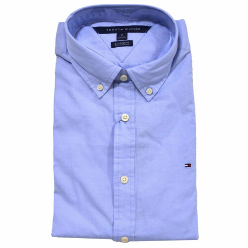 New Tommy Hilfiger Buttondown Shirt Mens Long Sleeve Custom Fit Casual Collared