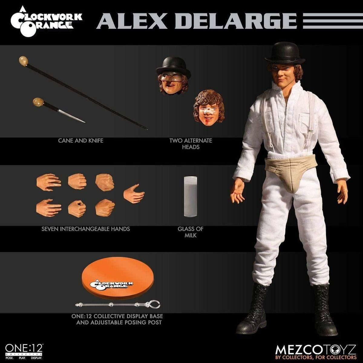 Mezco Spielzeugz One 12 Collective ALEX DELARGE 6  Figure A Clockwork Orange Droogs
