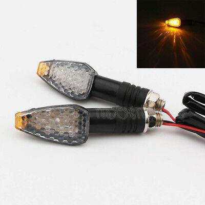 2x Yellow Turn Signal Lights for Yamaha Road Star Warrior Midnight XV1600 XV1700
