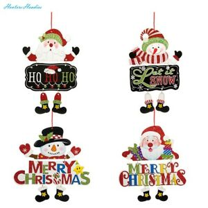 Biubee 4 pack Christmas Door Decorations Hanging -Home Ornament Decorative Tag S