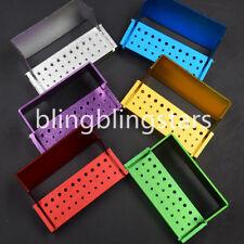 6 Color Dental Fg Ra Burr Burrs Holder Block Disinfection Box Autoclave 30 Hole