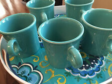FIESTAWARE Turquoise Coffee Cups 4 Available 10 0z.