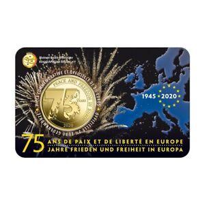 2,50 euro Belgique 2020 BU - 75 ans de Paix en Europe (légende française)