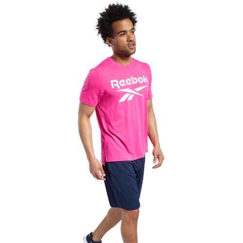 Reebok Homme Entraînement Prêt supremium Graphique T Shirt Tee Top Rose Sports Gym