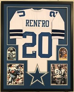 Image is loading FRAMED-MEL-RENFRO-AUTOGRAPHED-SIGNED-INSCRIBED-DALLAS- COWBOYS- 520a5dd5f