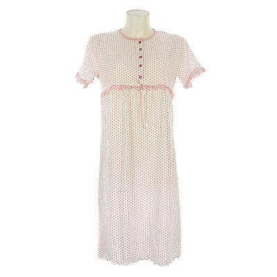 Camicia da notte donna estate in cotone elasticizzata manica corta   7DECAM029